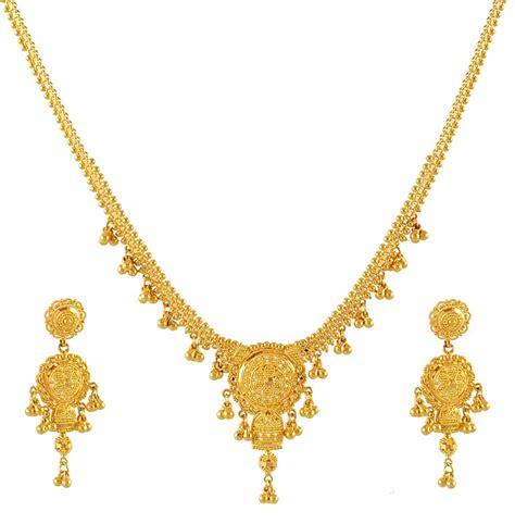22k gold necklace set stls4248 22k gold necklace and