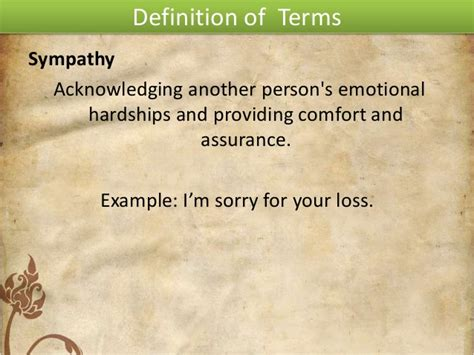 defintion of comfort sympathy and empathy in writing