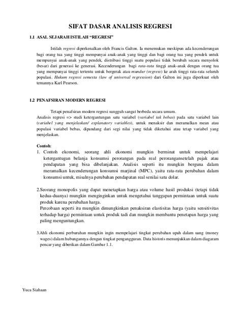 Dasar Dasar Ekonometrika E5 1 sifat dasar analisis regresi