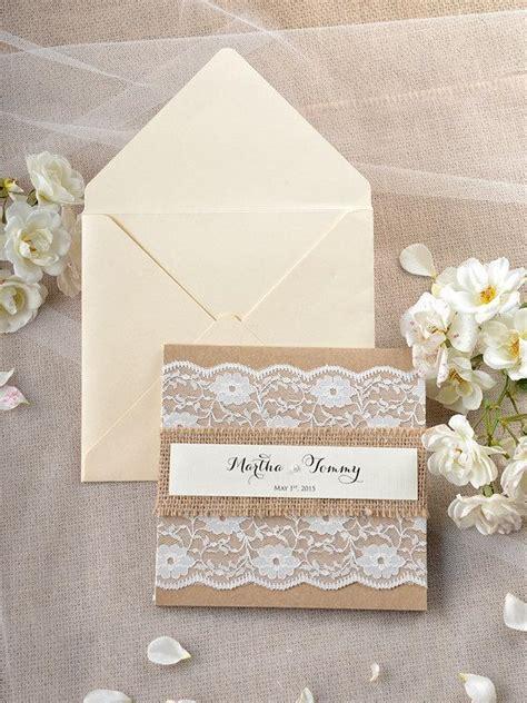 Handmade Lace Wedding Invitations - custom listing 20 rustic wedding invitation lace