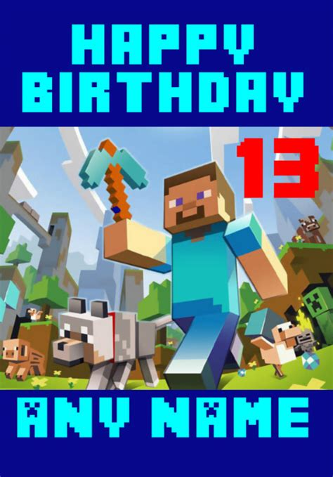 printable birthday cards minecraft minecraft birthday quotes quotesgram