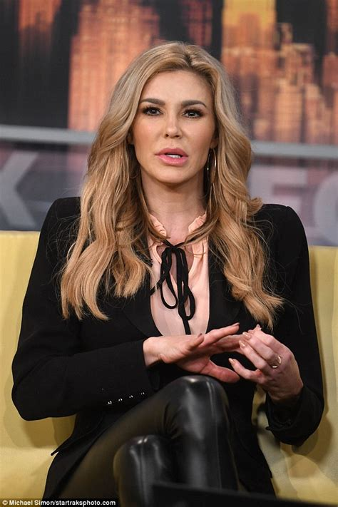 brandi house wives of beverly hills short hair cut brandi glanville flaunts her legs in skintight leather