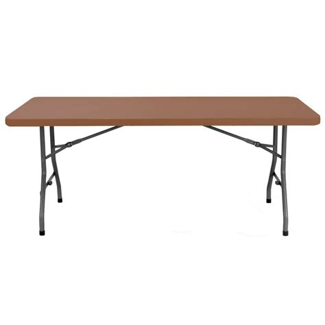 Pied De Bureau 3026 by Table En Polypro Plateau Marron Table Plastique Pliante