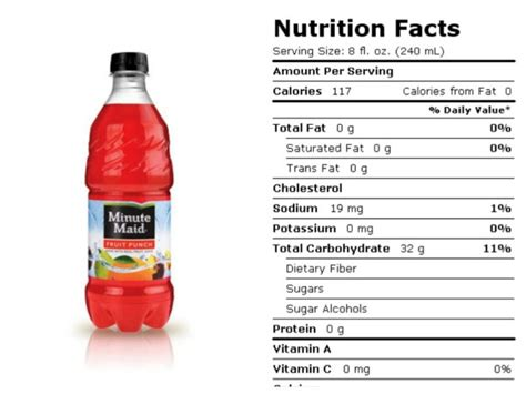 minute light fruit punch nutrition facts minute fruit punch nutrition facts nutrition ftempo