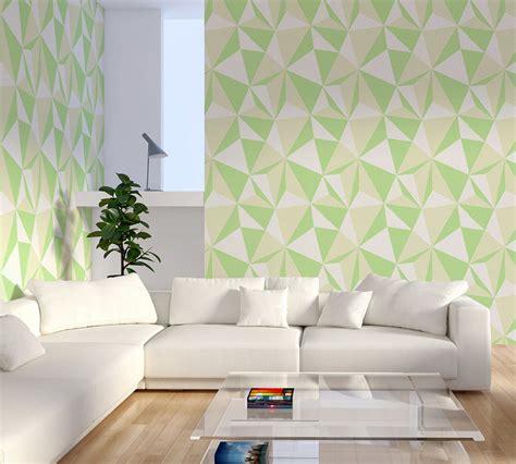 Wallpaper Dinding Stripe Bunga Biru terapi warna hijau dengan wallpaper dinding desain wallpaper