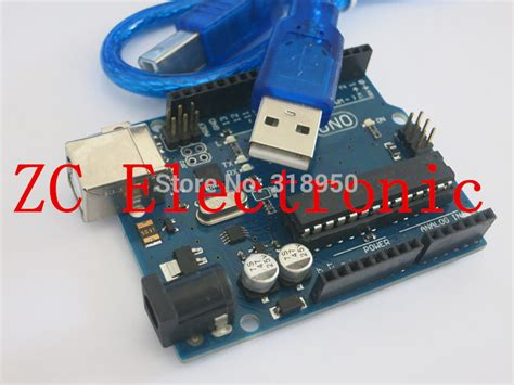 integrated circuit arduino uno one set uno r3 for arduino mega328p atmega16u2 with usb cable in integrated circuits from