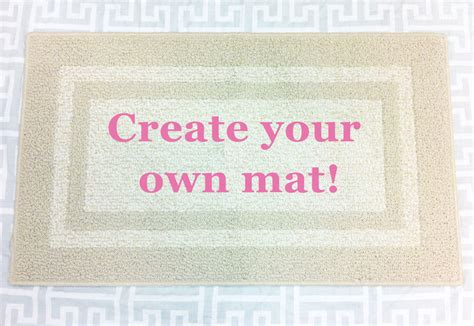 Create Your Own Doormat create your own personalized reminder mat decorative