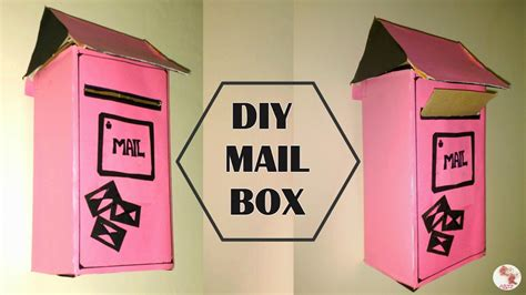 How To Make A Post Box Out Of Paper - diy mail box how to recycle a shoe box to letter box