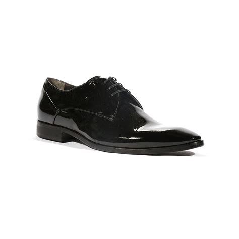 corvari designer mens dress shoes vernice black patent