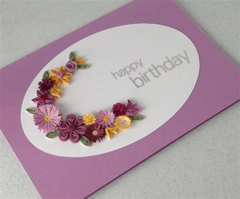 Handmade Paper Quilling Cards - paper quilling handmade birthday card