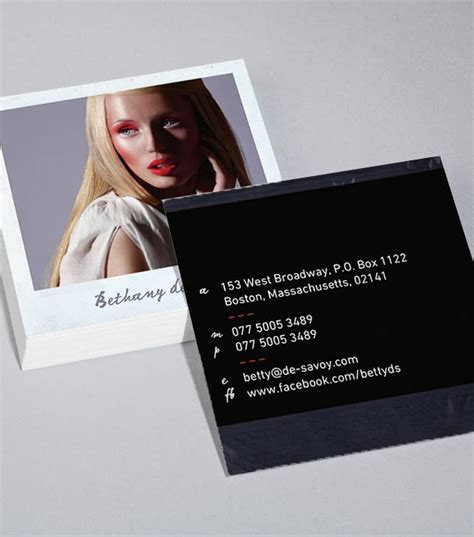 polaroid card template 11 best boutique business card designs