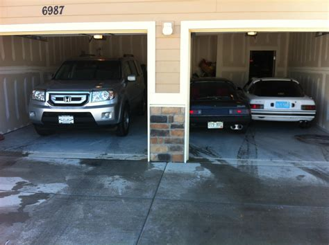 car garages 3 cars in a 2 car garage rx7club com