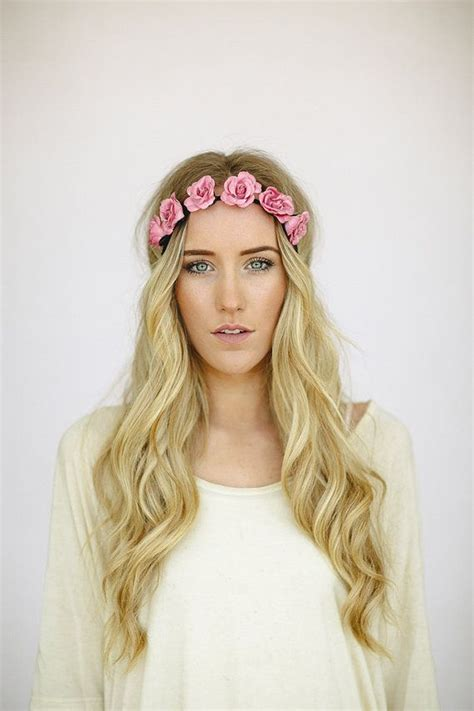 Crown Headband bohemian flower crown headband bridesmaid hair