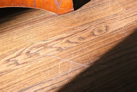 Wood Floor Scratch Repair Blessed Bles Id Fix A Wood Floor Scratch With A Walnut
