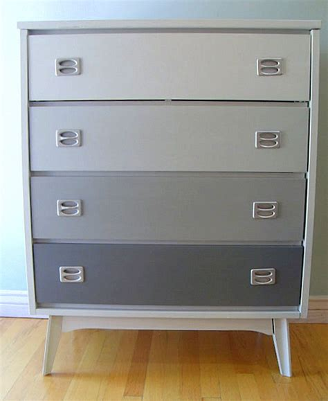 Gray Dresser by Back To Create A Color Gradient With Ombre Design
