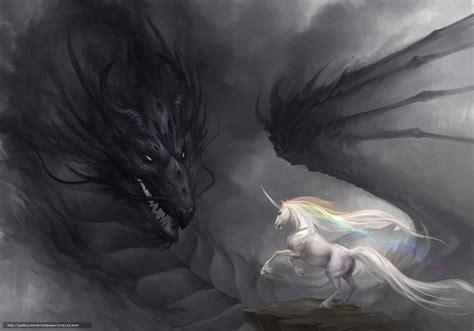 dark unicorn wallpaper download wallpaper art dragon unicorn rainbow free