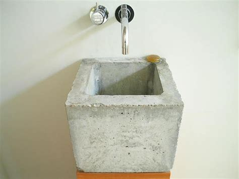 diy concrete bathroom sink concrete sink muehlhaus sink designed by www