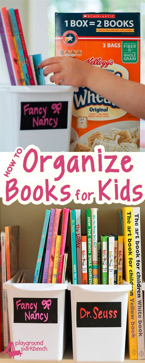organization books how to organize books for kids