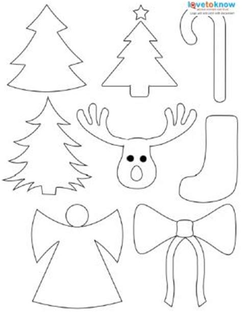 printable holiday shapes 6 best images of christmas cutouts free printables