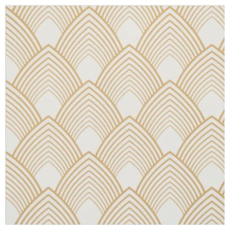 deco pattern pinterest gold and white art deco pattern fabric zazzle co uk