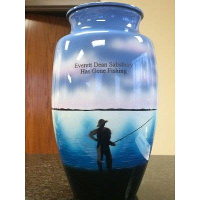 decorated fishing urn 109 best images about cremation urns for humans and pets