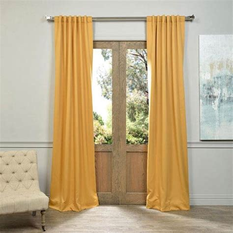 marigold curtains marigold yellow 50 x 96 inch blackout curtain pair 2 panel