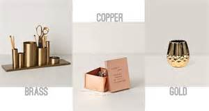 Copper Desk Accessories Gold Copper Brass Bennet