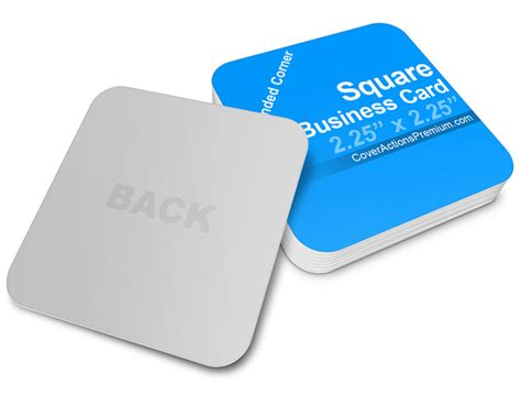 business cards rounded corners template square business card mockup cover actions premium
