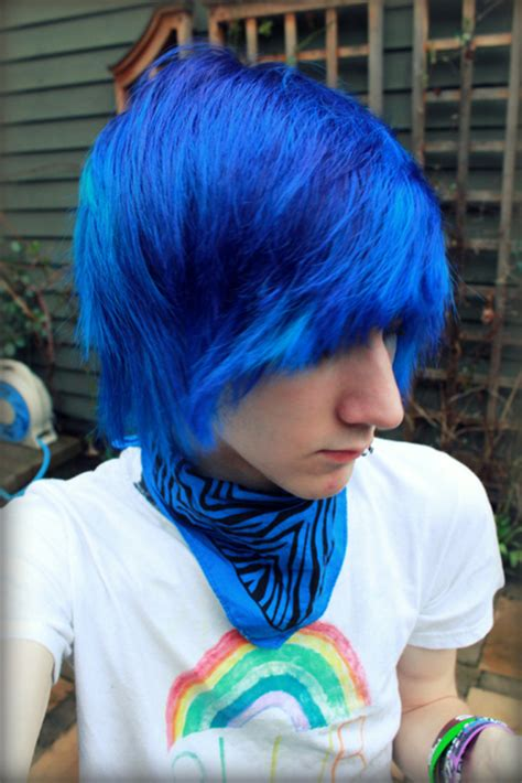 boy color with blue lifestyle boys blue hair