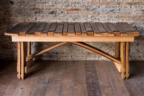 wine bench wine barrel bench by alpinewinedesign on etsy