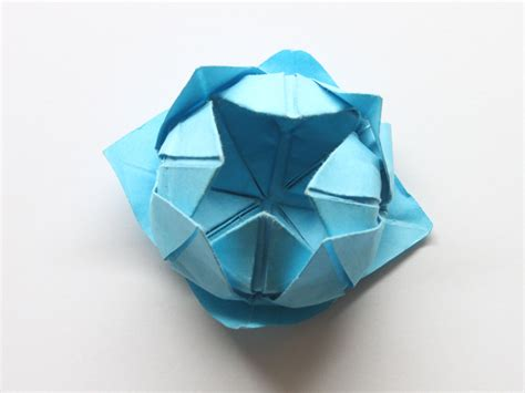 Lotus Origami - how to make a simple origami lotus flower 14 steps