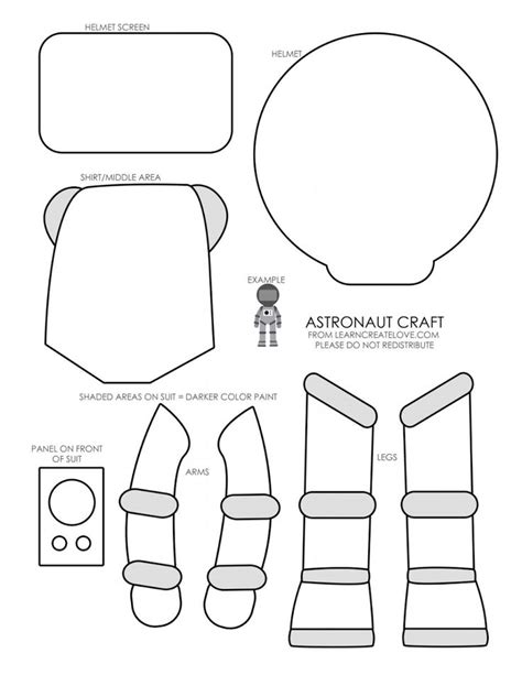 astronaut template 17 best ideas about astronaut craft on outer