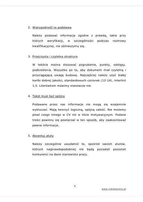 list motywacyjny jak napisać cv i list motywacyjny