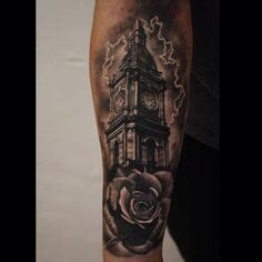 henna tattoos nottingham clock tower birds clouds tattooeys