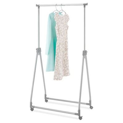 Foldable Clothes Rack whitmor foldable collapsible garment rack silver metal