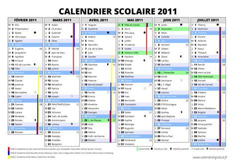 Calendrier Scolaire 2010 2011 Calendrier Des Vacances Scolaires 2010 2011