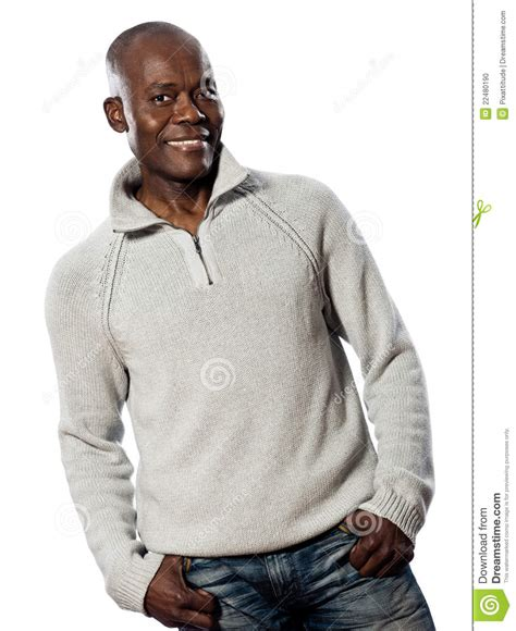 cologne african america men wear portrait of african man in casual wear smiling stock photo