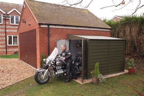 Unique Garages by Motorbike Sheds And Secure Motorcycle Garages For Home Storage