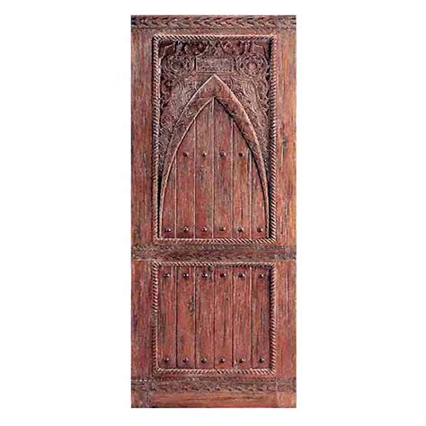 Moroccan Doors by Two Single Wood Doors With Moroccan Carving Design