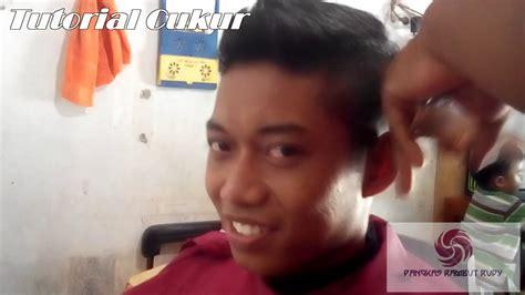 mencukur rambut model undercut jambul youtube