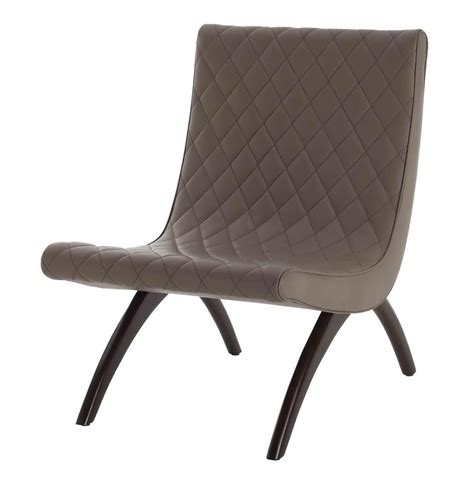 danforth mid century modern dove quilted leather chair