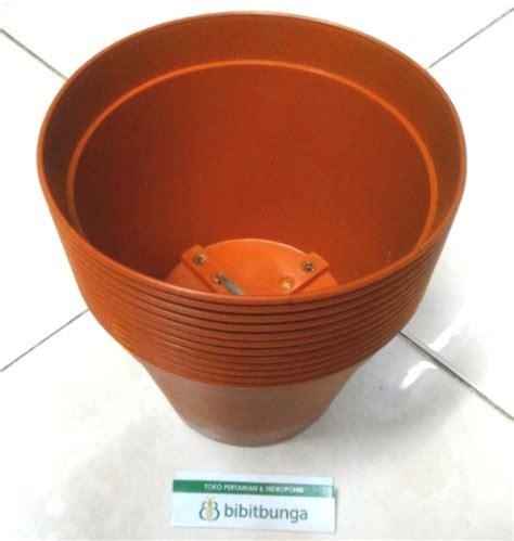 Pot Plastik 10 Cm Dan Tatakan pot bunga vanda 1750 merah bata 12 pcs bibitbunga