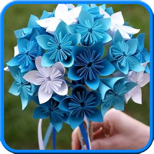 How To Make Origami Flower Bouquet Step By Step - easy origami flower bouquet free android app market