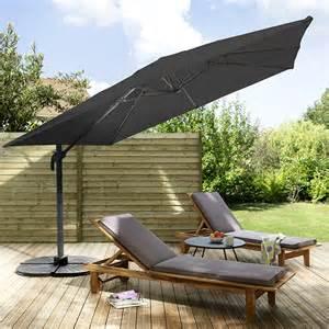 parasol d 233 port 233 en alu jaya 300 x 300 cm noir castorama