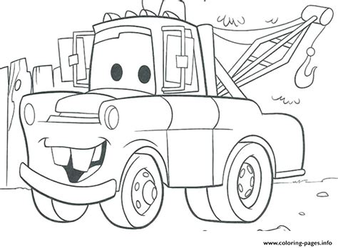 Coloring Pages Lightning Mcqueen And Mater | tow mater coloring pages coloring pages ideas
