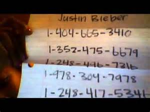 justin bieber real phone number justin bieber s cell phone numbers