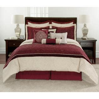 10 piece comforter set red