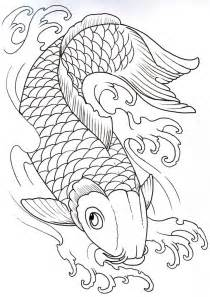 Two Koi Fish Outline by Koi Outline 2 By Vikingtattoo On Deviantart