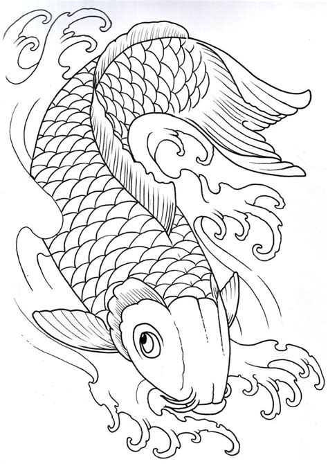 outline of tattoo designs koi tattoos designs ideas and meaning tattoos for you