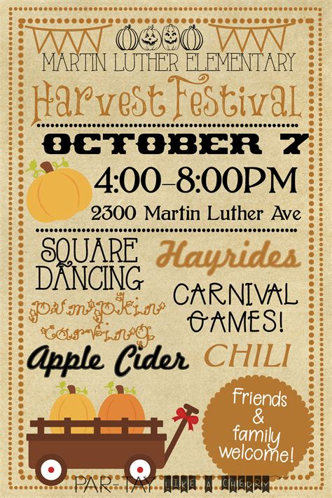 Harvest Festival Invitation Party Like A Cherry Harvest Festival Flyer Free Template